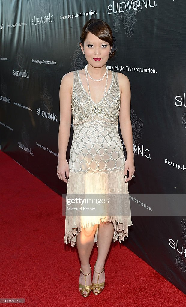 Actress Hana Mae Lee attends the Sue Wong Fall 2013 Great Gatsby Collection Unveiling and Birthday Celebration on April 19, 2013 in Los Angeles, California.