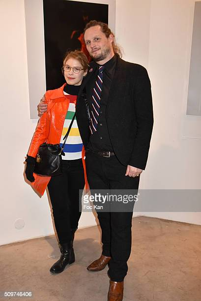 Actress Hande Kodja and Guilhem de Castelbajac attend 'Ghosts Of Glory' by Guilhem de Castelbajac Exhibition Preview At Earth Gallery on February 11...
