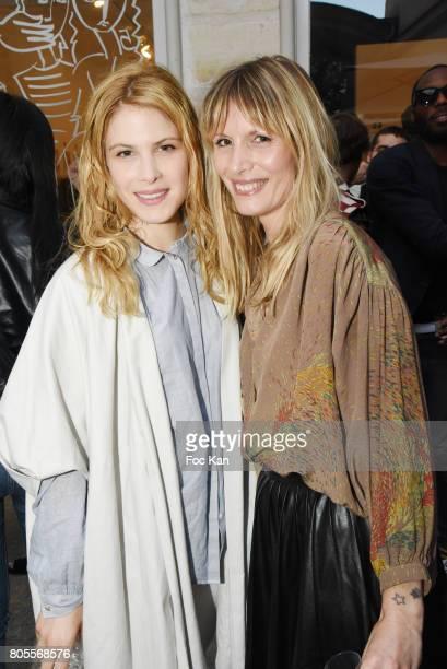 Actress Hande Kodja and Isabelle TeodorescuÊattend '40 Passages' Jean Charles de Castelbajc Exhibition Preview at Galerie Mannerheim on July 1 2017...