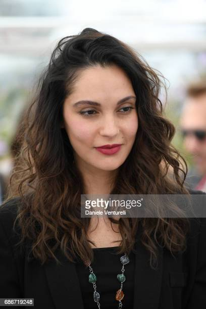 Actress Hania Amar attends 'Waiting For Swallows ' photocall during the 70th annual Cannes Film Festival at Palais des Festivals on May 22 2017 in...
