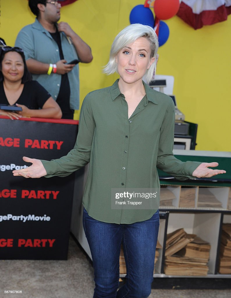 Actress Hannah Hart attends the premiere of Sony's 'Sausage Party' held at the Regency Village Theater on August 9 2016 in Westwood California