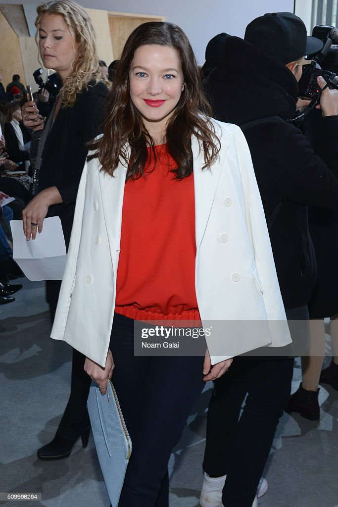 Actress, <a gi-track='captionPersonalityLinkClicked' href=/galleries/search?phrase=Hannah+Herzsprung&family=editorial&specificpeople=539710 ng-click='$event.stopPropagation()'>Hannah Herzsprung</a>, attends the Lacoste Fall 2016 fashion show during New York Fashion Week at Spring Studios on February 13, 2016 in New York City.