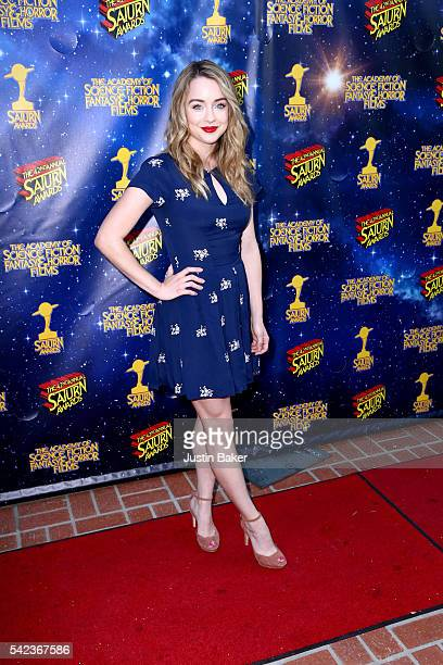 Actress Hannah Kasulka arrives for the 42nd Annual Saturn Awards at The Castaway on June 22 2016 in Burbank California