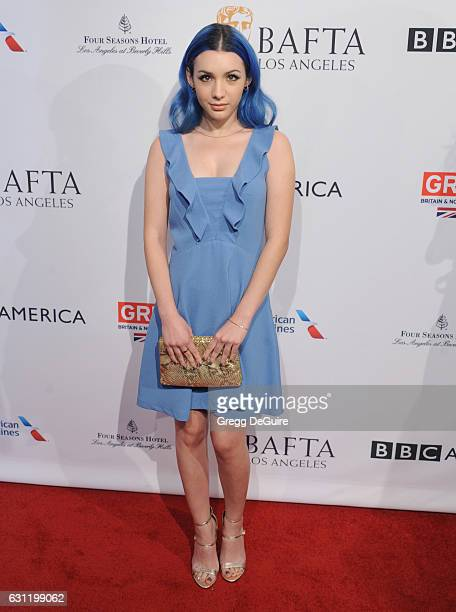 Actress Hannah Marks arrives at The BAFTA Tea Party at Four Seasons Hotel Los Angeles at Beverly Hills on January 7 2017 in Los Angeles California