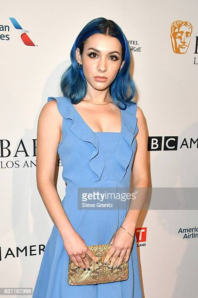 Actress Hannah Marks attends The BAFTA Tea Party at Four Seasons Hotel Los Angeles at Beverly Hills on January 7 2017 in Los Angeles California
