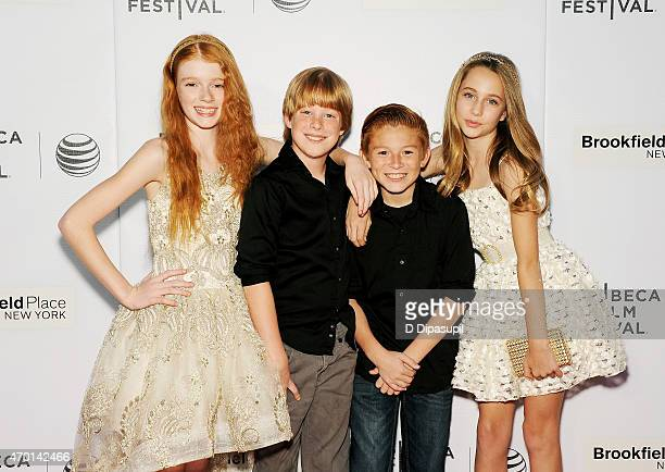 Actress Hannah McCloud Maddux Berry Daniel Millsaps and Eden McCoy attend the premiere of 'Tenured' during the 2015 Tribeca Film Festival at Regal...