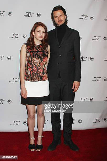Actress Hannah Murray and Director Jeppe Ronde attend the premiere of 'Bridgend' during the 2015 Tribeca Film Festival at Chelsea Bow Tie Cinemas on...