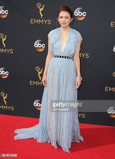 Actress Hannah Murray arrives at the 68th Annual Primetime Emmy Awards at Microsoft Theater on September 18 2016 in Los Angeles California