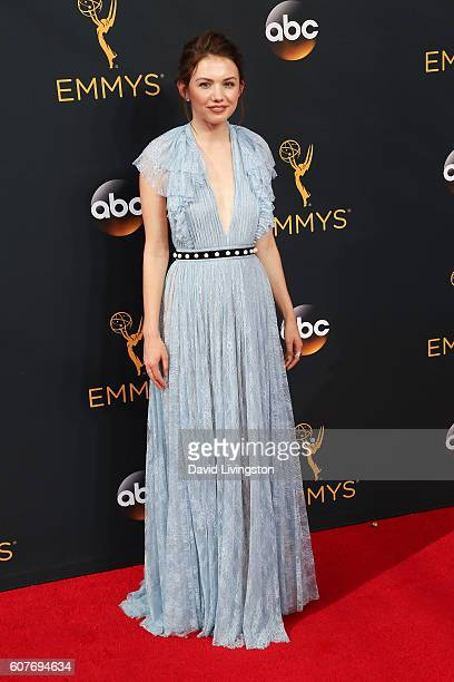 Actress Hannah Murray arrives at the 68th Annual Primetime Emmy Awards at the Microsoft Theater on September 18 2016 in Los Angeles California