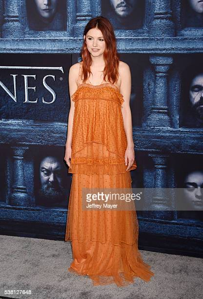 Actress Hannah Murray arrives at the premiere of HBO's 'Game of Thrones' Season 6 at the TCL Chinese Theatre on April 10 2016 in Hollywood California