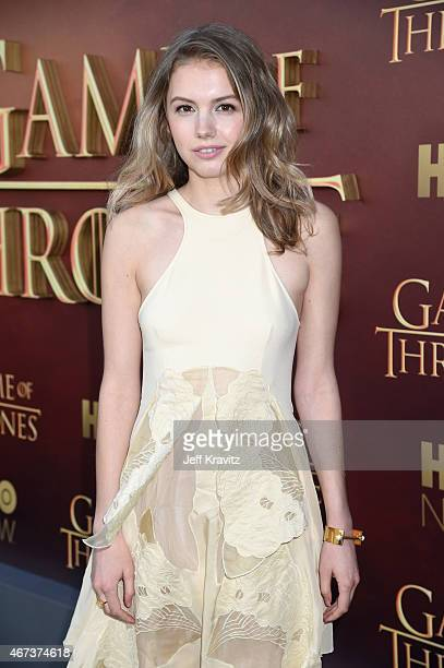 Actress Hannah Murray attends HBO's 'Game of Thrones' Season 5 Premiere and After Party at the San Francisco Opera House on March 23 2015 in San...