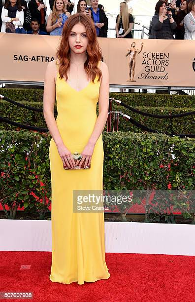 Actress Hannah Murray attends the 22nd Annual Screen Actors Guild Awards at The Shrine Auditorium on January 30 2016 in Los Angeles California