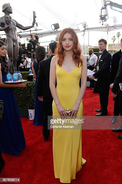Actress Hannah Murray attends The 22nd Annual Screen Actors Guild Awards at The Shrine Auditorium on January 30 2016 in Los Angeles California...