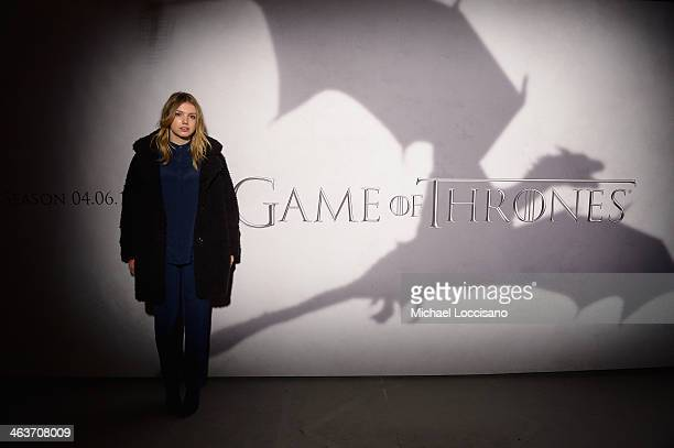 Actress Hannah Murray attends the HBO And Blackhouse Foundation 'Game Of Thrones' Sundance Soiree on January 18 2014 in Park City Utah