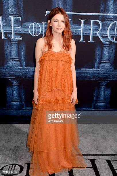 Actress Hannah Murray attends the premiere for the sixth season of HBO's 'Game Of Thrones' at TCL Chinese Theatre on April 10 2016 in Hollywood City