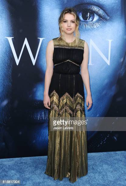 Actress Hannah Murray attends the season 7 premiere of 'Game Of Thrones' at Walt Disney Concert Hall on July 12 2017 in Los Angeles California