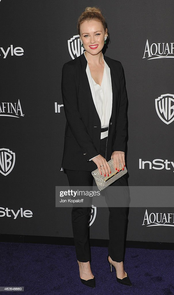 Actress <a gi-track='captionPersonalityLinkClicked' href=/galleries/search?phrase=Hannah+New&family=editorial&specificpeople=8671957 ng-click='$event.stopPropagation()'>Hannah New</a> arrives at the 16th Annual Warner Bros. And InStyle Post-Golden Globe Party at The Beverly Hilton Hotel on January 11, 2015 in Beverly Hills, California.