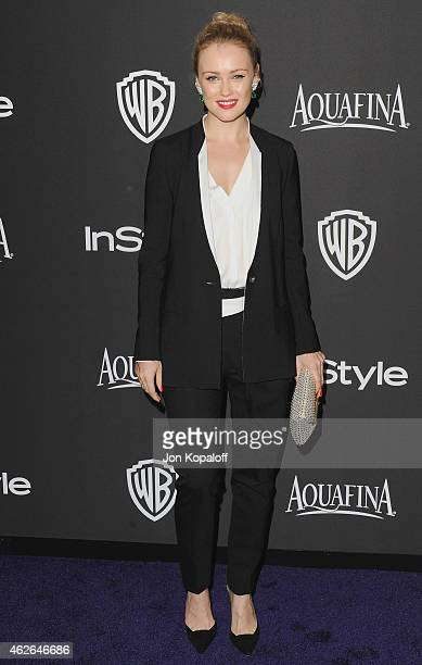 Actress Hannah New arrives at the 16th Annual Warner Bros And InStyle PostGolden Globe Party at The Beverly Hilton Hotel on January 11 2015 in...