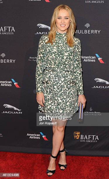 Actress Hannah New arrives at the 2015 BAFTA Tea Party at The Four Seasons Hotel on January 10 2015 in Beverly Hills California