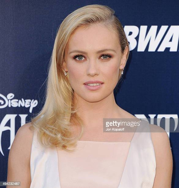 Actress Hannah New arrives at the Los Angeles Premiere 'Maleficent' at the El Capitan Theatre on May 28 2014 in Hollywood California