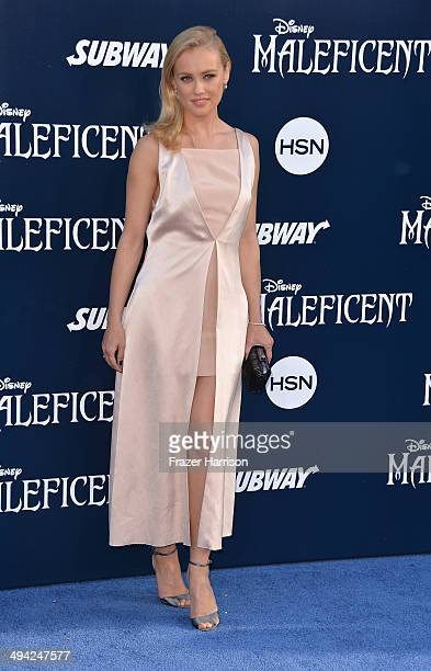 Actress Hannah New arrives at the World Premiere Of Disney's 'Maleficent' at the El Capitan Theatre on May 28 2014 in Hollywood California
