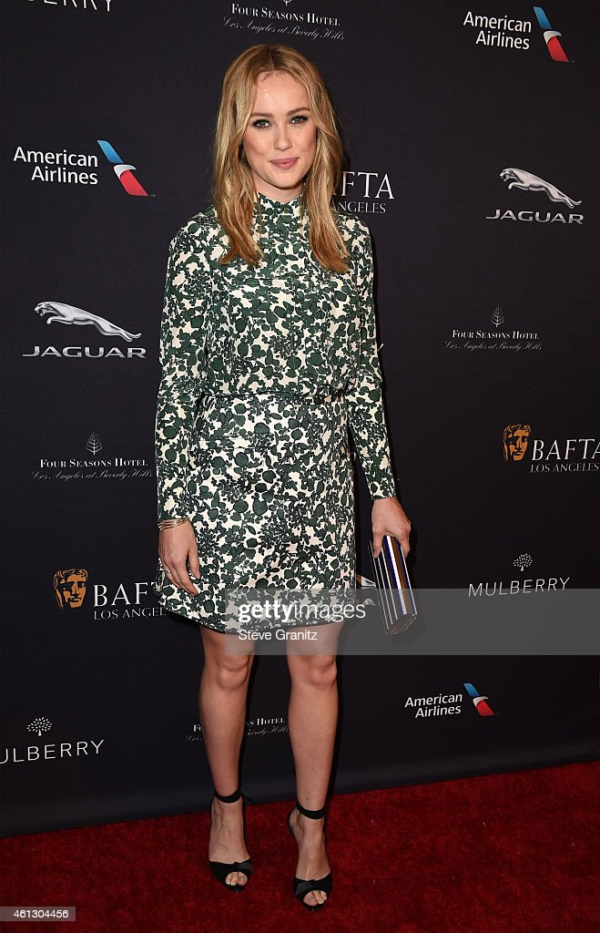 Actress <a gi-track='captionPersonalityLinkClicked' href=/galleries/search?phrase=Hannah+New&family=editorial&specificpeople=8671957 ng-click='$event.stopPropagation()'>Hannah New</a> attends the 2015 BAFTA Tea Party at The Four Seasons Hotel on January 10, 2015 in Beverly Hills, California.