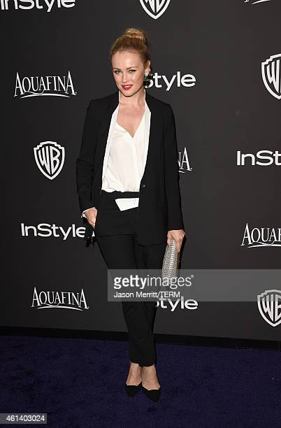 Actress Hannah New attends the 2015 InStyle And Warner Bros 72nd Annual Golden Globe Awards PostParty at The Beverly Hilton Hotel on January 11 2015...