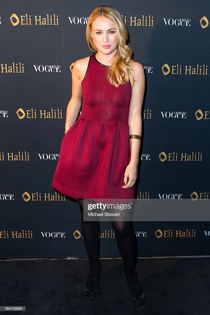 Actress Hannah New attends the Eli Halili Soho Boutique Grand Opening with Vogue Gioiello on October 15, 2013 in New York City.