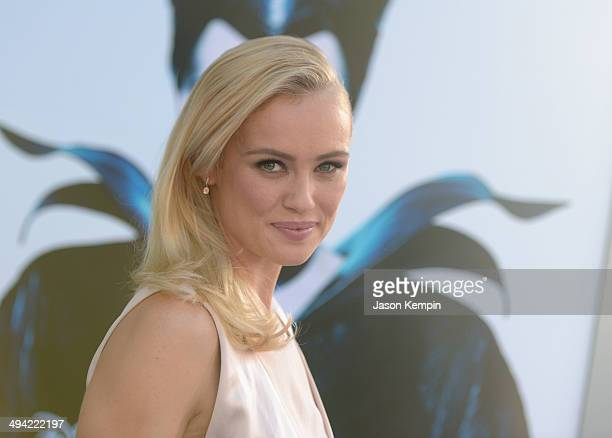 Actress Hannah New attends the World Premiere of Disney's 'Maleficent' starring Angelina Jolie at the El Capitan Theatre on May 28 2014 in Hollywood...