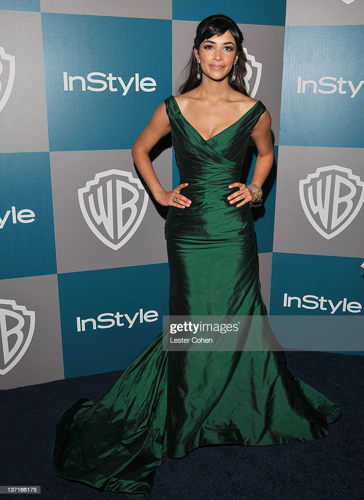 Actress Hannah Simone arrives at the 13th Annual Warner Bros. and InStyle Golden Globe After Party held at The Beverly Hilton hotel on January 15, 2012 in Beverly Hills, California.