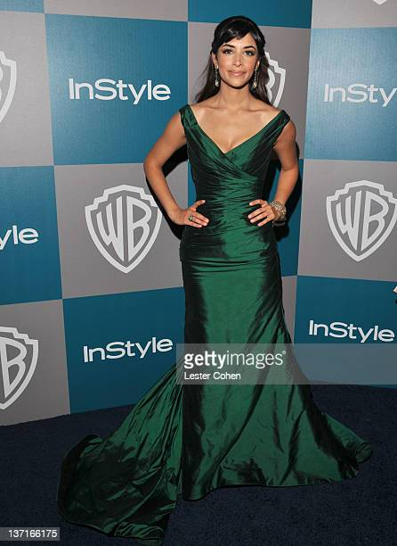 Actress Hannah Simone arrives at the 13th Annual Warner Bros and InStyle Golden Globe After Party held at The Beverly Hilton hotel on January 15 2012...