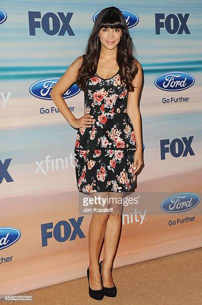 Actress Hannah Simone arrives at the 2014 FOX Fall EcoCasino Party at The Bungalow on September 8 2014 in Santa Monica California
