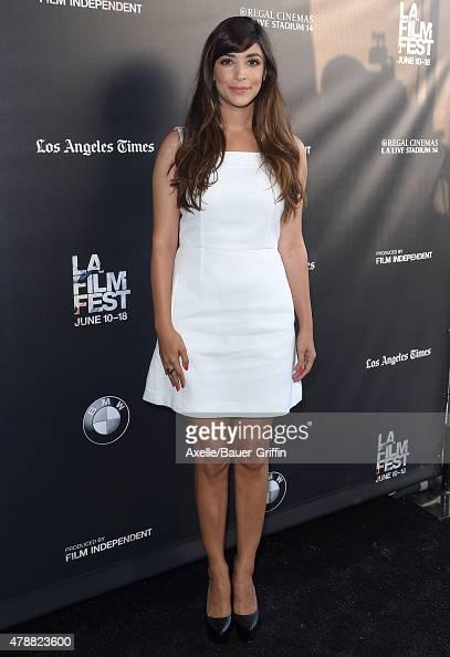 Actress Hannah Simone arrives at the 2015 Los Angeles Film Festival screening of 'Flock Of Dudes' at Regal Cinemas LA Live on June 13 2015 in Los...