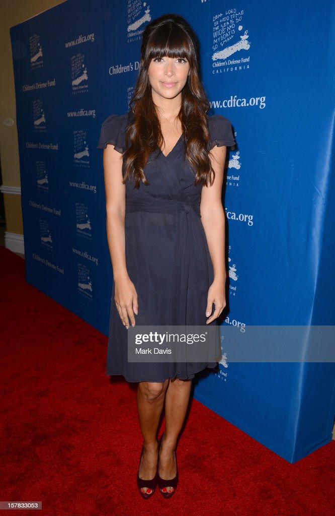 Actress Hannah Simone arrives at the Children's Defense Fund of California 22nd Annual Beat The Odds Awards at Beverly Hills Hotel on December 6, 2012 in Beverly Hills, California.