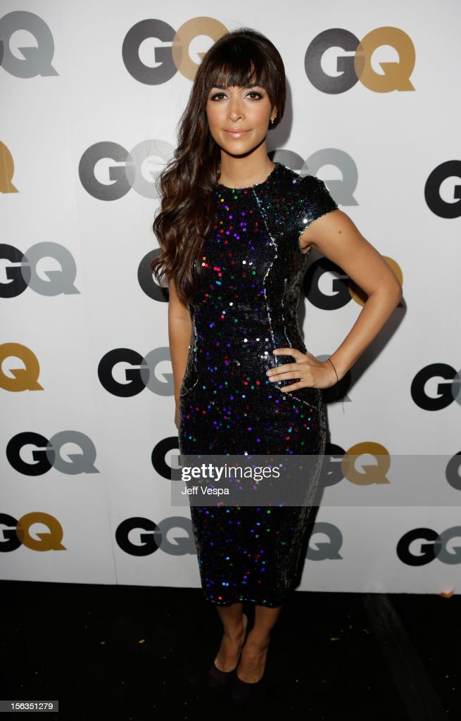 Actress Hannah Simone arrives at the GQ Men of the Year Party at Chateau Marmont on November 13, 2012 in Los Angeles, California.