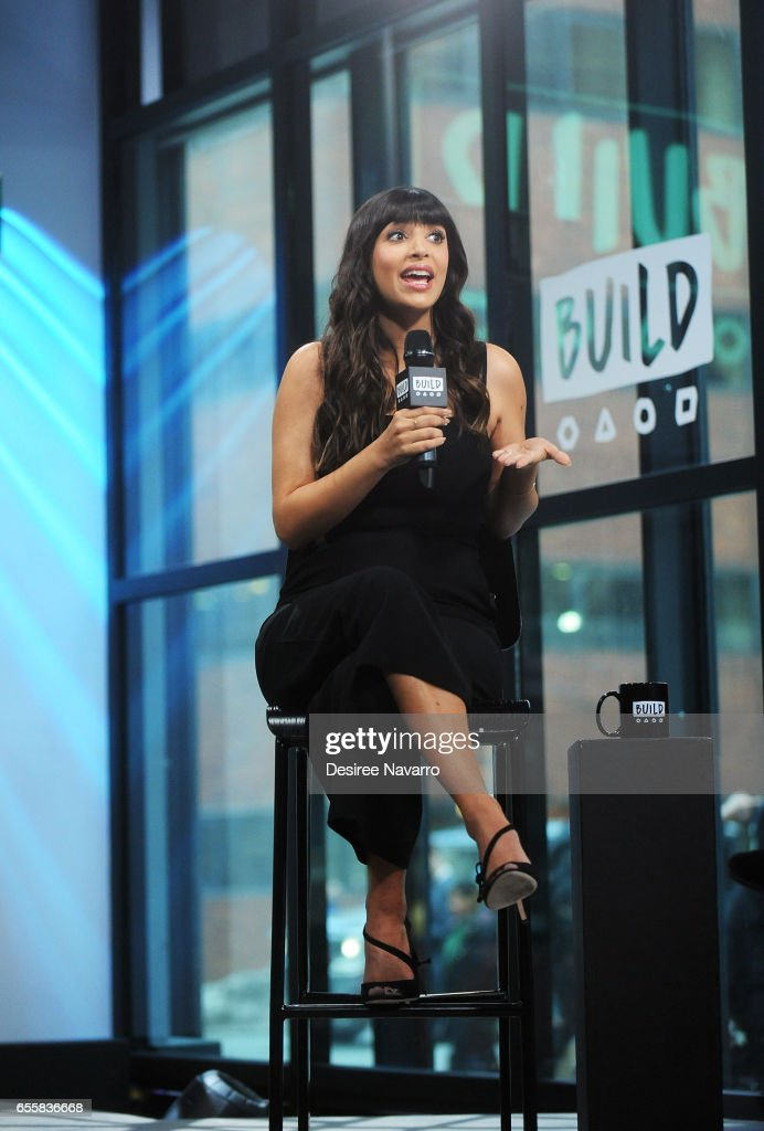 Actress Hannah Simone attends Build Series to discuss 'Kicking & Screaming' at Build Studio on March 20, 2017 in New York City.