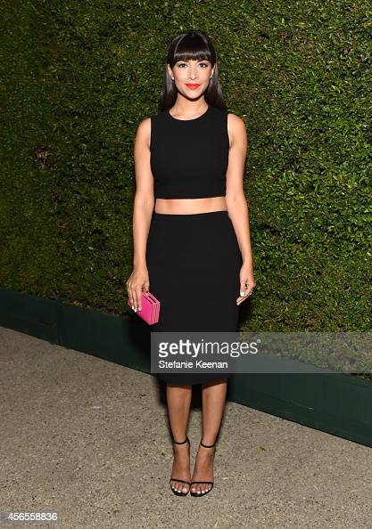 Actress Hannah Simone attends Claiborne Swanson Frank's Young Hollywood book launch hosted by Michael Kors at Private Residence on October 2 2014 in...