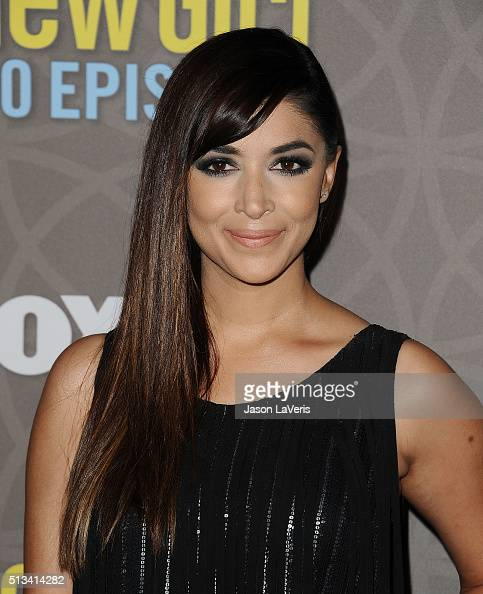 Actress Hannah Simone attends Fox's 'New Girl' 100th episode party at W Los Angeles West Beverly Hills on March 2 2016 in Los Angeles California