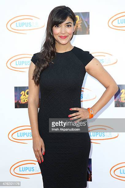 Actress Hannah Simone attends Lupus LA's Orange Ball A Night Of Superheroes at Fox Studio Lot on June 6 2015 in Century City California