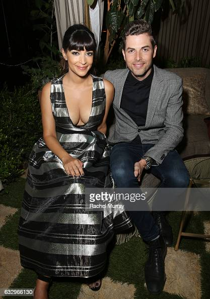 Actress Hannah Simone attends the Entertainment Weekly Celebration of SAG Award Nominees sponsored by Maybelline New York at Chateau Marmont on...