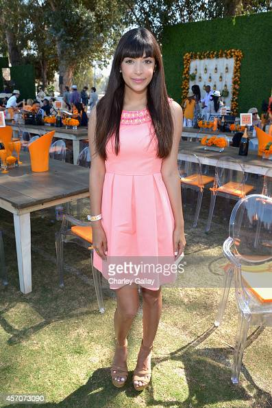 Actress Hannah Simone attends the FifthAnnual Veuve Clicquot Polo Classic at Will Rogers State Historic Park on October 11 2014 in Pacific Palisades...