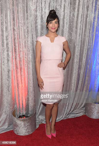 Actress Hannah Simone attends the IWMF Courage In Journalism Awards at The Beverly Hilton Hotel on October 28 2014 in Beverly Hills California