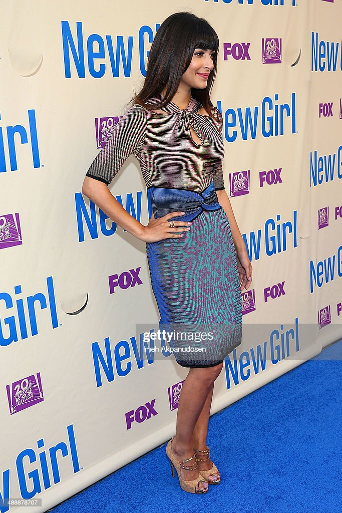 Actress Hannah Simone attends the 'New Girl' Season 3 Finale Screening and cast Q&A at Zanuck Theater at 20th Century Fox Lot on May 8, 2014 in Los Angeles, California.
