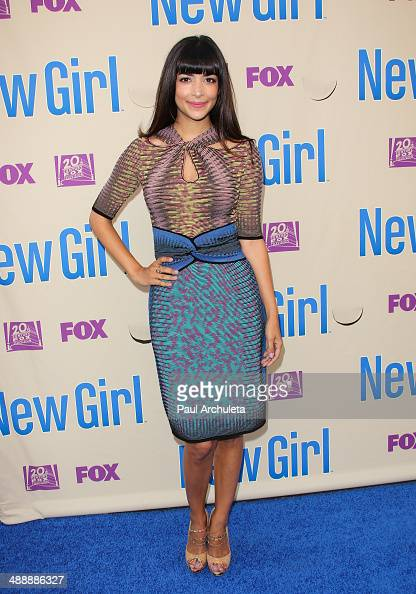Actress Hannah Simone attends the 'New Girl' season 3 screening and cast QA at Zanuck Theater at 20th Century Fox Lot on May 8 2014 in Los Angeles...