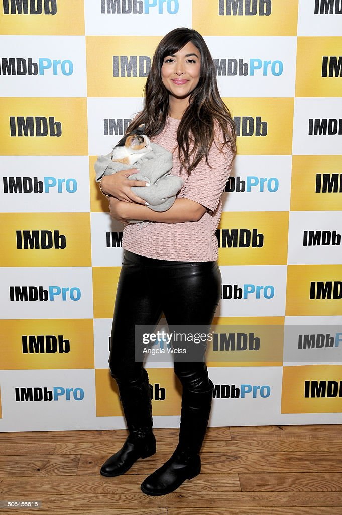 Actress Hannah Simone in The IMDb Studio In Park City, Utah: Day Two - on January 23, 2016 in Park City, Utah.