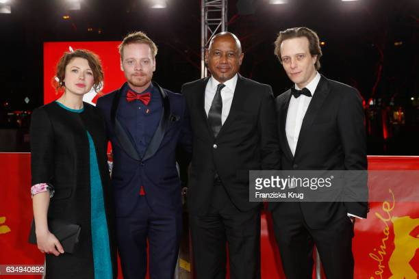 Actress Hannah Steele actor Stefan Konarske film director and screenwriter Raoul Peck and actor August Diehl attend the 'The Young Karl Marx'...