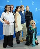 Actress Hannelore Elsner actor Elmar Wepper actress Aya Irizuki actor Maximilian Bruckner actress Nadja Uhl and director Doris Dorrie attend the...