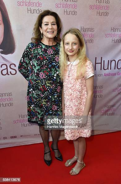 Actress Hannelore Elsner and Nike Seitz during the German premiere of the film 'Hannas schlafende Hunde' at Filmtheater Sendlinger Tor on June 6 2016...