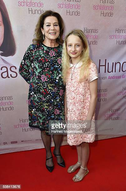 Actress Hannelore Elsner and Nike Seitz during the German premiere of the film 'Hannas schlafende Hunde' at Filmtheater Sendlinger Tor on June 6 2016...
