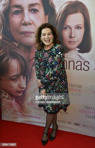 Actress Hannelore Elsner during the German premiere of the film 'Hannas schlafende Hunde' on June 6 2016 in Munich Germany